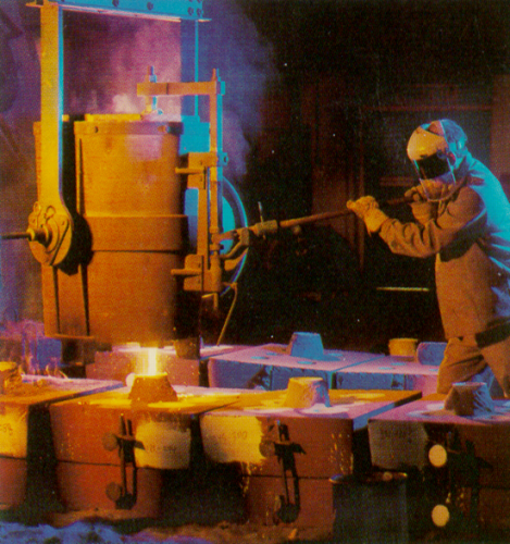 casting process from ladle