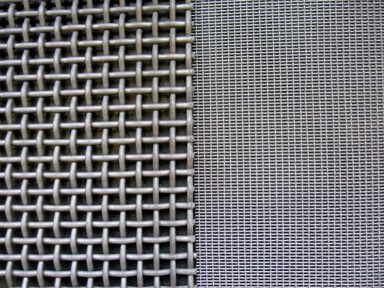 Aluminized wire mesh